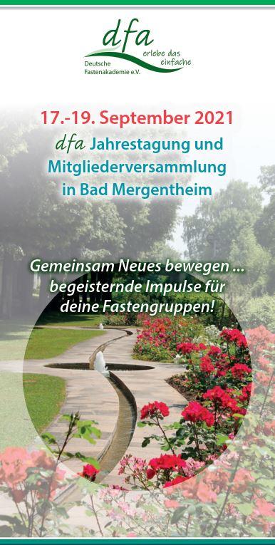 dfa-Jahrestagung in Bad Mergentheim 2021